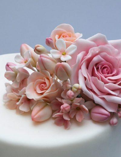 spiselige blomster og roser af fondant