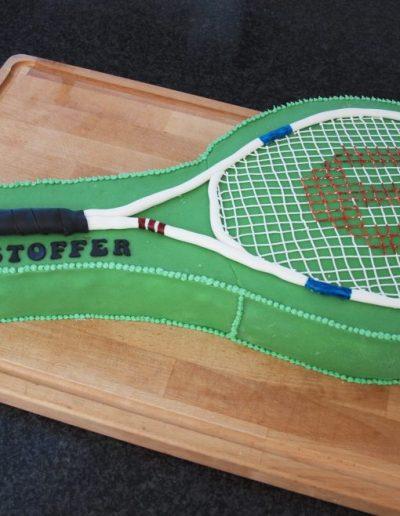 kage til konfirmation tennis med navn