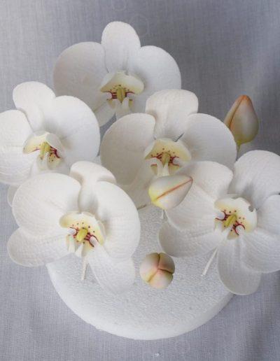 orkidéer lavet i gumpaste
