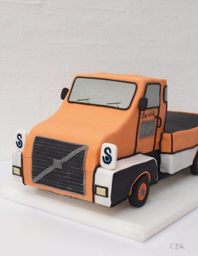 Sanistål lastbil orange med logo
