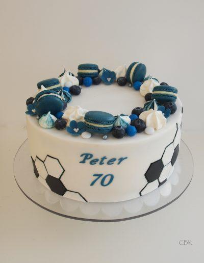 fodbold fødselsdagskage i agf farver