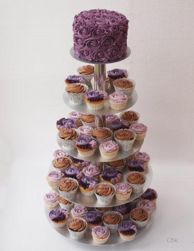 Lilla cupcakes-bryllupskage