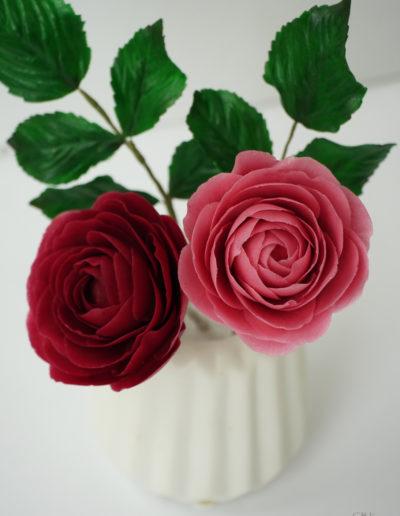 Pink roser til bryllupskage