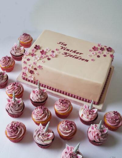 dåbskage pige med cupcakes