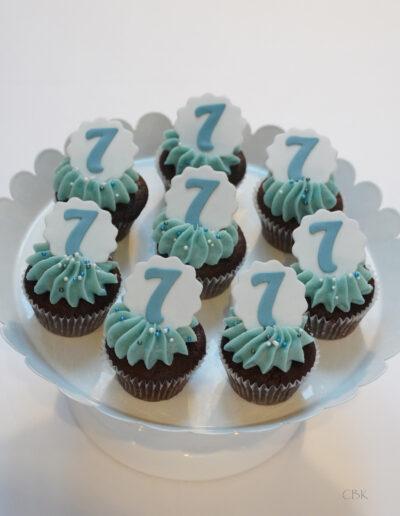 Mini cupcakes til børnefødselsdag