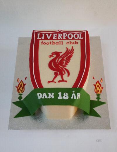 Fodboldfan-kage Liverpool